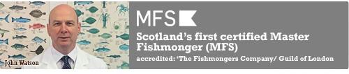 Scotland's first certified Master Fishmonger, John Watson.